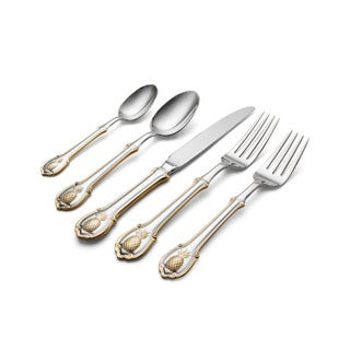 Wallace Pineapple Gold Accent 20 Piece Flatware Set