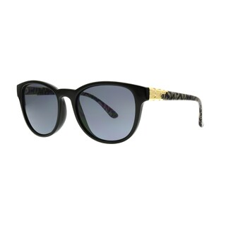 Angel Eyewear Talon Women's Black Frame with Smoke Lens Sunglasses - Medium