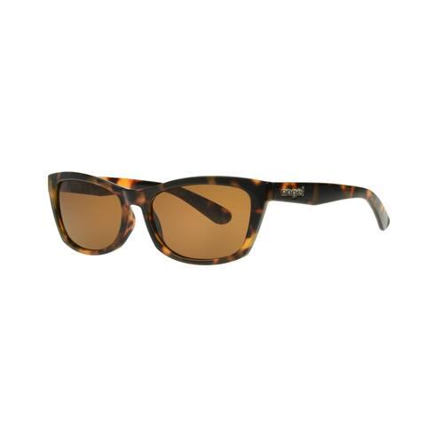 Angel Eyewear Hadlee Women's Brown Demi Frame Brown Lens Sunglasses - Medium