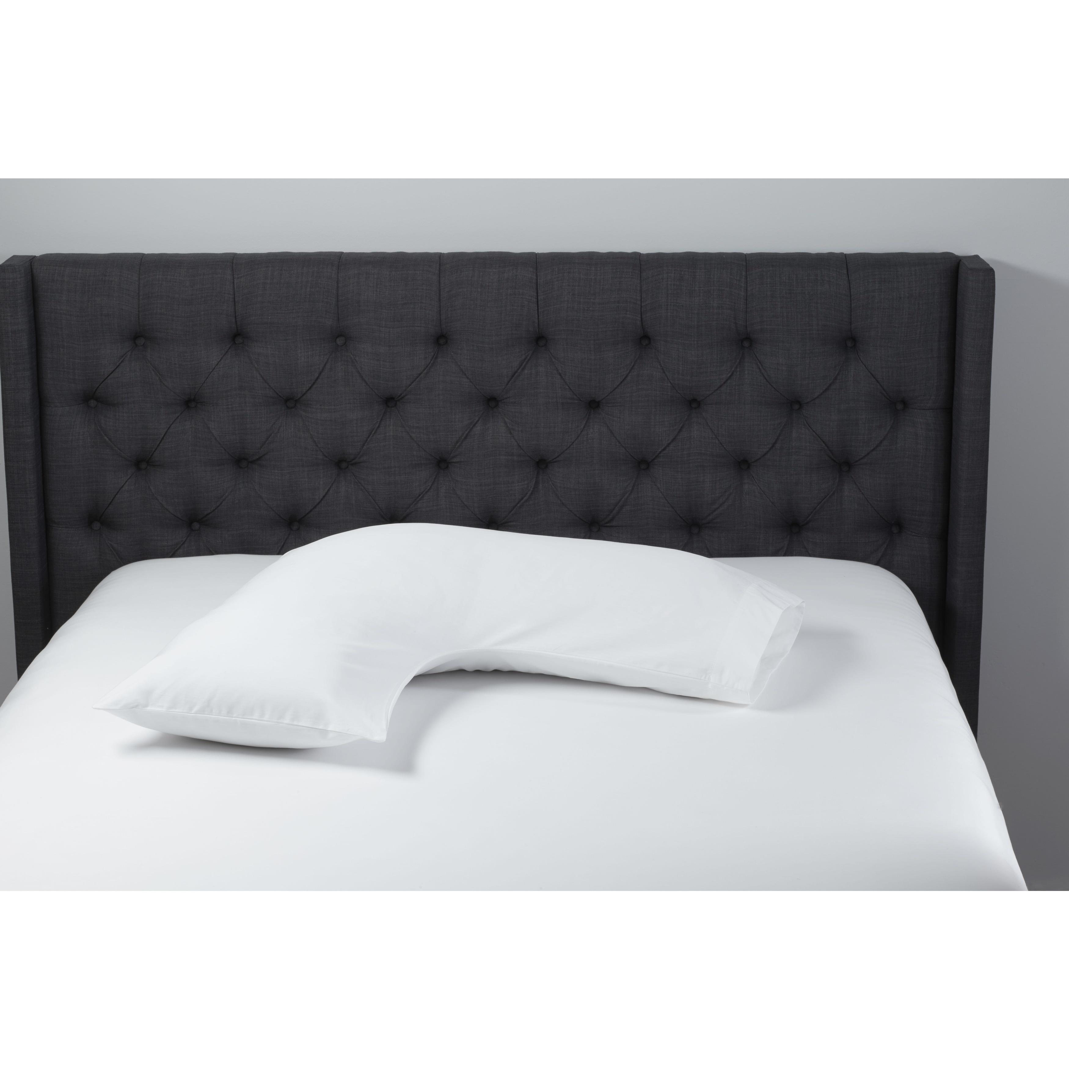 Hypoallergenic Boomerang Body Pillow (Boomer), White