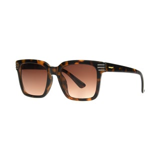 Angel Eyewear Callie Women's Brown Demi Frame Brown Gradient Lens Sunglasses - Tortoise - Medium