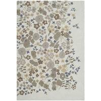 Martha Stewart by Safavieh Watercolor Garden Cloud Wool Rug - 3'9 x 5'9