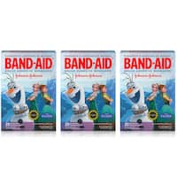 Band Aid Disney Frozen 20-Count Adhesive Bandages Assorted Sizes (Pack of 3)