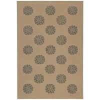 Martha Stewart by Safavieh Medallions Rattan Silk/ Wool Rug - 5'6 x 8'6
