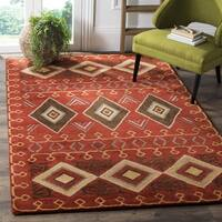Safavieh Heritage Traditional Oriental Hand-Tufted Wool Red/ Multi Area Rug (4' x 6')