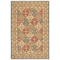 Safavieh Hand-woven Sumak Taupe Wool Rug - 6' x 9'