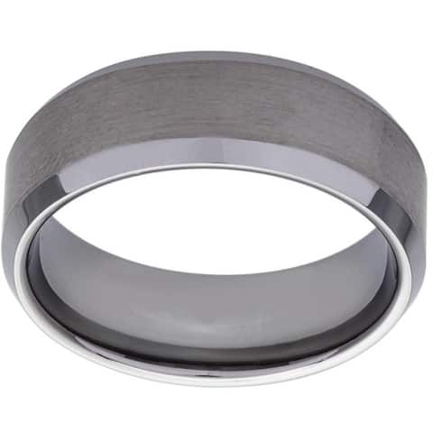 Men's Tungsten Brushed Finish Comfort Fit Band (8 mm)