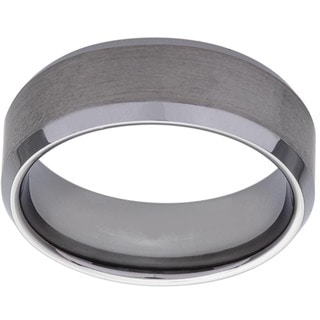 Men's Tungsten Brushed Finish Band (8 mm) (Option: 11.5)