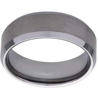 Men's Tungsten Brushed Finish Band (8 mm)|https://ak1.ostkcdn.com/images/products/2104759/P10388535.jpg?impolicy=medium