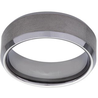 Men's Tungsten Brushed Finish Band (8 mm)