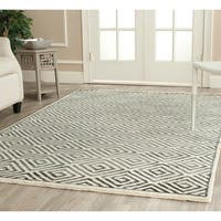 Safavieh Hand-knotted Mosaic Modern Ivory/ Grey Wool/ Viscose Rug - 5' x 8'