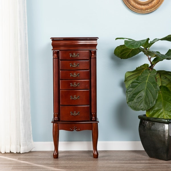 Harper Blvd Mahogany Medium Jewelry Armoire