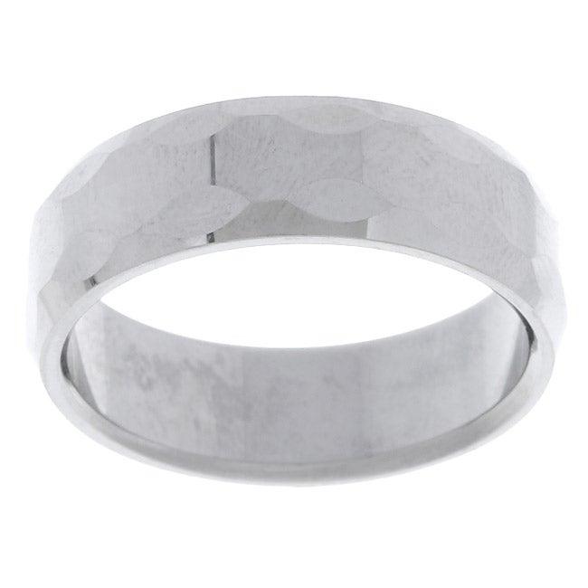 Men's Tungsten Carbide Bevel Edge Ring (8 mm) (12), metal