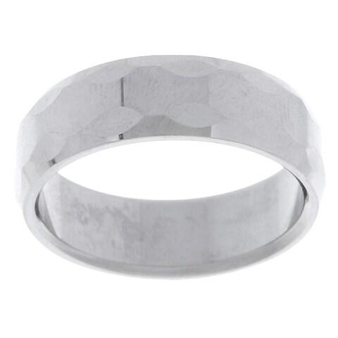 Men's Tungsten Carbide Bevel Edge Ring (8 mm)