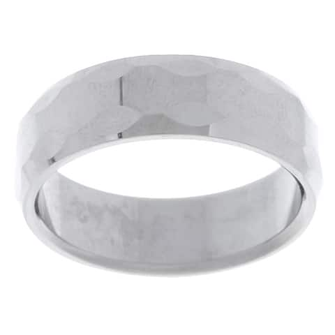 Men's Tungsten Carbide Bevel Edge Ring (8 mm)