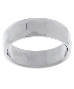 Men's Tungsten Carbide Bevel Edge Ring (8 mm) (Option: 7.5)