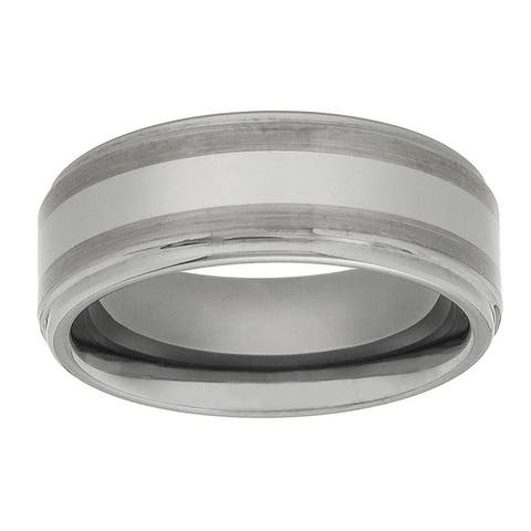 Men's Tungsten Carbide Fancy Band (8 mm)