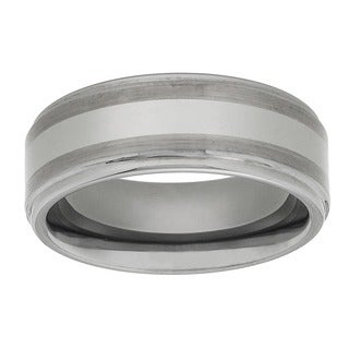Men's Tungsten Carbide Fancy Band (8 mm) (Option: 7.5)