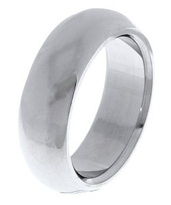 Men's Tungsten Carbide Half Round Band (8 mm) - Thumbnail 1