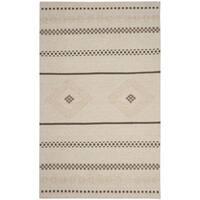 Safavieh Hand-Woven Dhurries Natural Wool Rug (5' x 8')