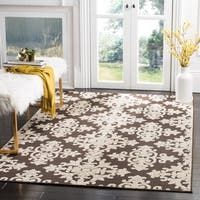 Safavieh Cottage Brown/ Cream Rug - 6'7 x 9'6
