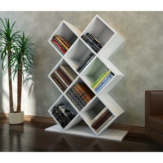 "Decorotika Beach 50"" Accent Bookcase with 8 Shelves"