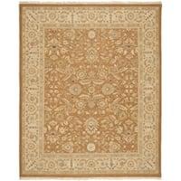 Safavieh Hand-woven Sumak Copper/ Beige Wool Rug - 6' x 9'