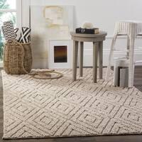 Safavieh Handmade Natura Southwestern Beige Wool / Cotton Rug - 5' x 8'