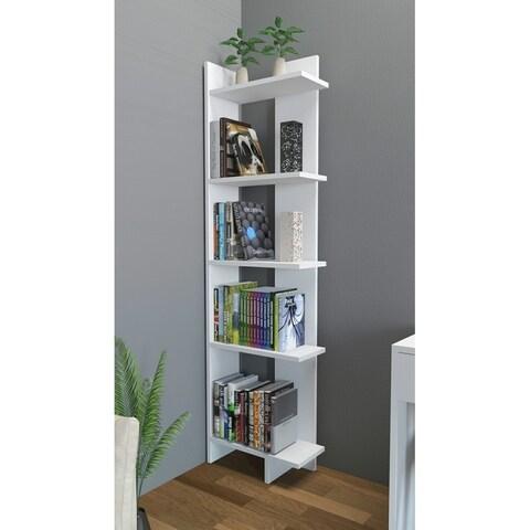 """Decorotika Alice 67"""" Accent Corner Bookcase 5-Tier"""