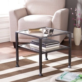 Harper Blvd Metal and Glass Square Cocktail Table