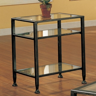 Clay Alder Home Sorlie Bunch Metal Glass End Table - Thumbnail 0