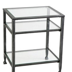 Thumbnail 3, Clay Alder Home Sorlie Bunch Metal Glass End Table. Changes active main hero.