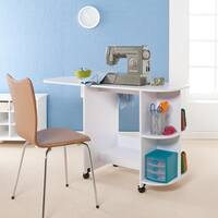 Harper Blvd White Folding Sewing Machine Table