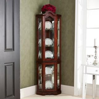 McCoy Mahogany Lighted Display Cabinet