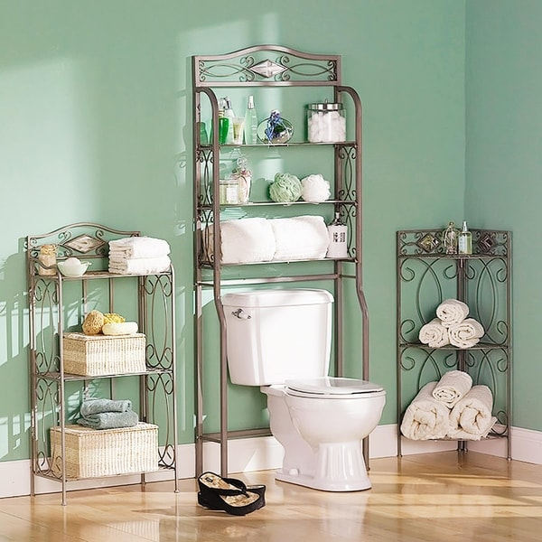 Reflections 3-tier Metal Bathroom Storage Rack & Shop Reflections 3-tier Metal Bathroom Storage Rack - On Sale - Free ...