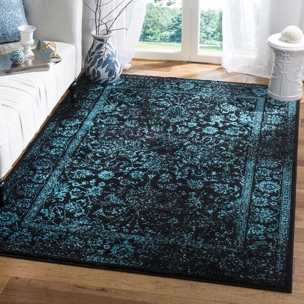 Shop Safavieh Adirondack Vintage Distressed Black Blue Area Rug