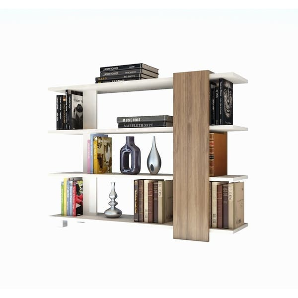 Tall Accent Bookcase With 4 Tier Open