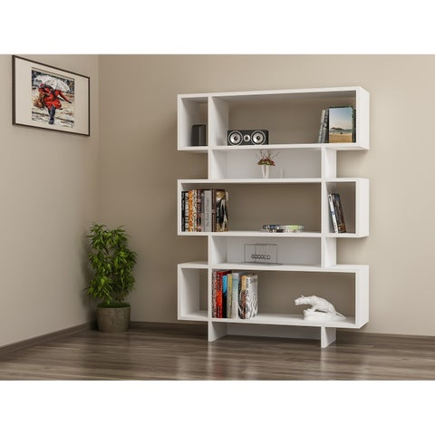 """Decorotika Elze 50"""" Accent Bookcase with 5-Tier and 8 Shelves"""