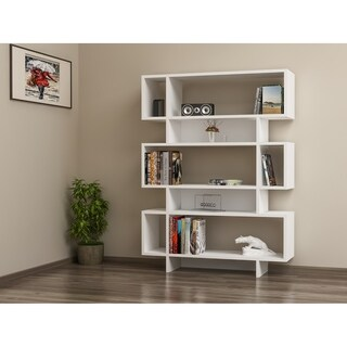 "Decorotika Elze 50"" Accent Bookcase with 5-Tier and 8 Shelves"