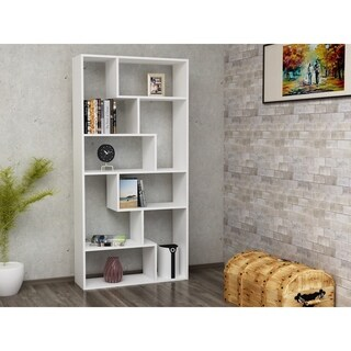 """Serra 71"""" Accent Bookcase with 8 Asymetrical Shelves"""