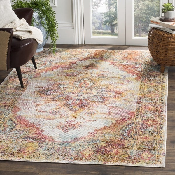 Shop Safavieh Crystal Cream Red Area Rug Free Shipping Today