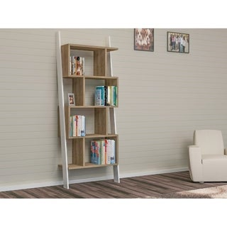 "Decorotika Toledo 71"" Leaning Bookcase 4-Tier 9 Shelves"