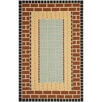 Safavieh Hand-Hooked Four Seasons Brown/ Blue Polyester Rug - 8' x 10'