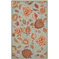 Safavieh Hand-Hooked Four Seasons Blue Polyester Rug - 8' x 10'