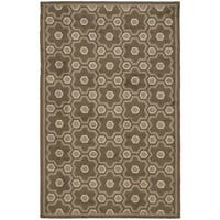 Martha Stewart by Safavieh Puzzle Molasses Brown Wool Rug - 7'9 x 9'9