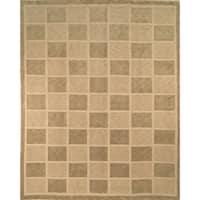 Safavieh Hand-knotted Tibetan Geometric Sage/ Beige Wool Rug - 8' x 10'