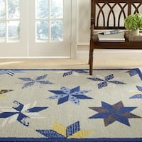 Martha Stewart by Safavieh Lemoyne Star Azurite Blue Wool Rug - 8' x 10'