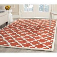 Safavieh Handmade Precious Rose Polyester/ Wool Rug - 8' x 10'