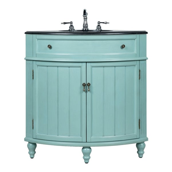 "Shop 24"" Benton Collection Thomasville Blue Corner Bathroom Sink Vanity"