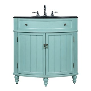 Benton Collection Thomasville Blue Corner Bathroom Sink Vanity 24""